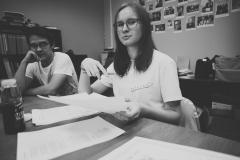 Встречи в ЛИФТе. Обсуждение рукописей участников. На фото Софья Василец